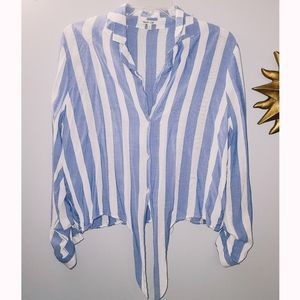 Bleuh Ciel Long Sleeve Tie up Top!